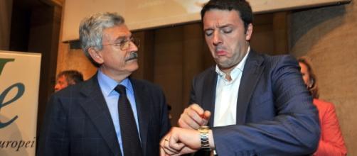 Massimo D'Alema e Matteo Renzi (Foto: aciclico.com)
