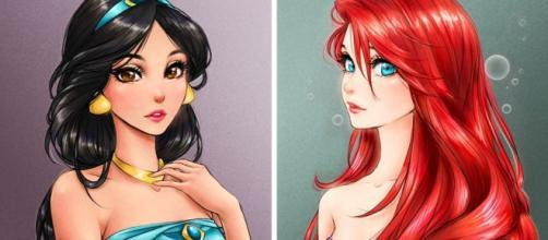 15 Princesas de Disney dibujadas como personajes de anime - okchicas.com