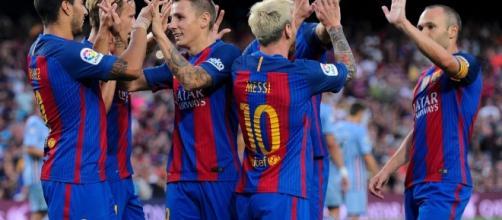 A equipa blaugrana procura colocar pressão sobre o rival de Madrid