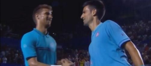 Djokovic congrats Klizan, Youtube ACE Tennis channel https://www.youtube.com/watch?v=bdGJpZ0eHfQ