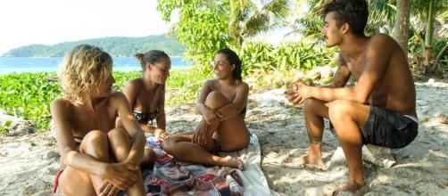 Eva Grimaldi discute con Nancy, Malena e Moreno