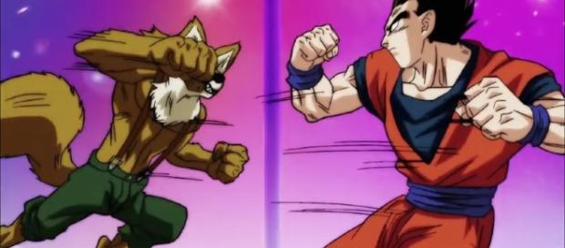 Gohan vs Lavenda en el episodio 80