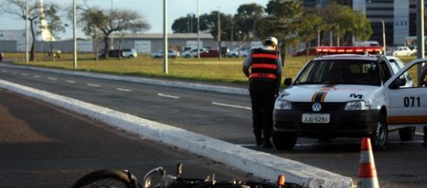Imagem após o acidente que causou a morte
