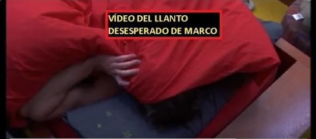 Marco no puede más, te mostramos las imágenes de su llanto en la cama