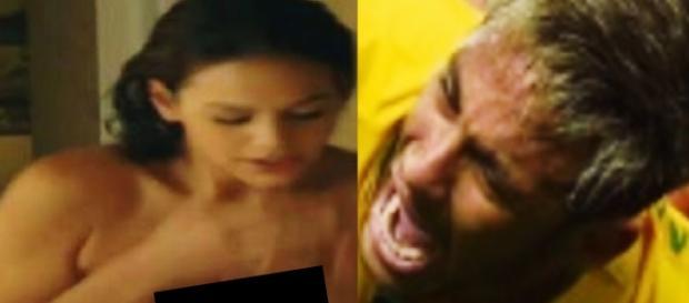 Neymar descobre Bruna Marquezine nua na praia