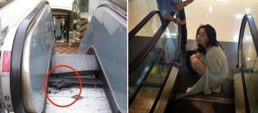 Acidentes sofridos em escadas rolantes