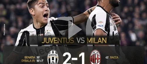 HIGHLIGHTS Juventus-Milan 2-1: Benatia-Bacca-Dybala! Ampia sintesi & moviola