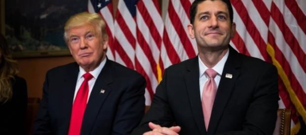 Il Presidente Donald Trump e l'House Speaker Paul Ryan