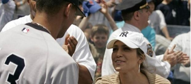 JLo com Alex Rodriguez, em 2005