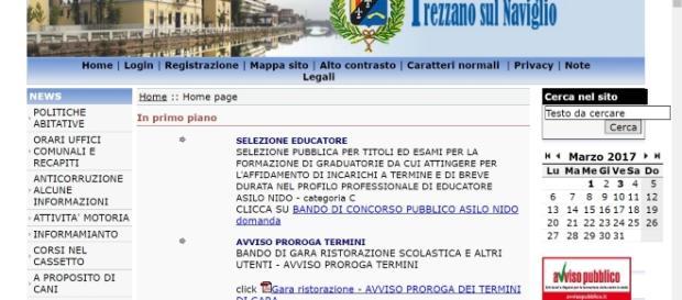 Trezzano sul Naviglio (MI) sito ufficiale bando educatore