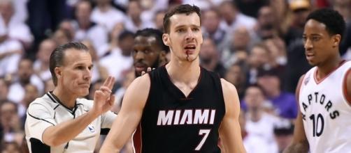 Goran Dragic was hit by Cory Joseph's elbow last night - usatoday.com