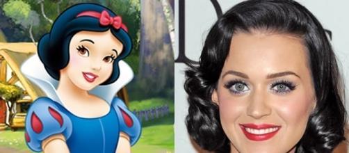 Personagens de desenhos parecidos com famosos: Kate Perry e Branca de Neve