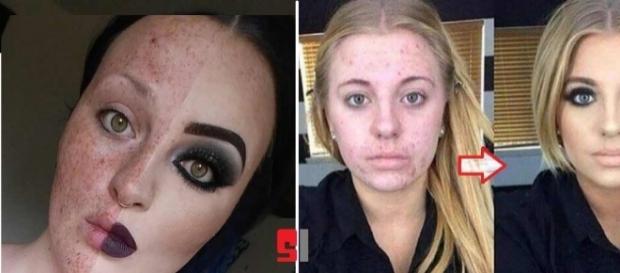 Antes e depois de quando a maquiagem é milagreira