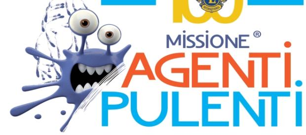 """Il logo del service Lions """"Missione Agenti Pulenti"""""""