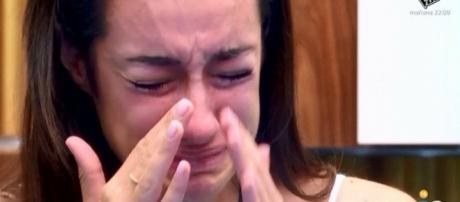 Adara Molinero llorando en el confesionario en 'GH17'