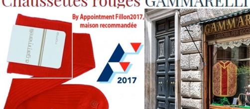 Faute de pouvoir se vêtir chez Berluti, les fillonnistes optent pour les chaussettes rouges Gammarelli de François Fillon