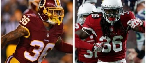 Su'a Cravens and DJ Swearinger come to a compromise on number. Image courtesy of redskins.com