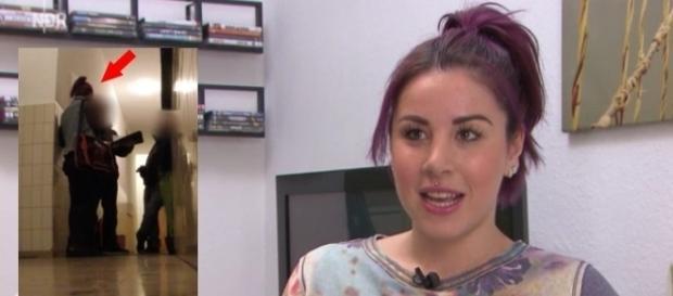 """Kate Merlan (30) in der Sendung """"Markt"""" im NDR / Fotos: NDR; Kate Merlan Facebook"""