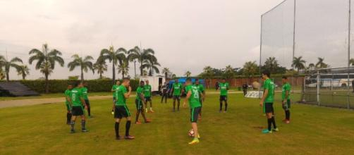 Atlético Nacional entrenó en el Monumental de Guayaquil Foto: @nacionaloficial