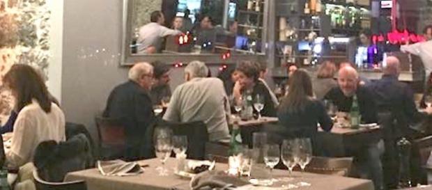 Ex-presidente Dilma Rousseff em restaurante de luxo na Suíça