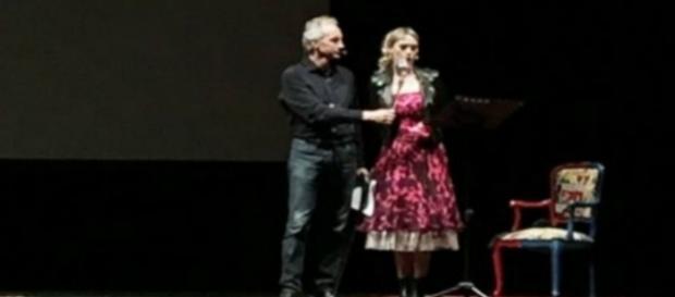 Marco Travaglio durante il suo spettacolo 'Slurp'