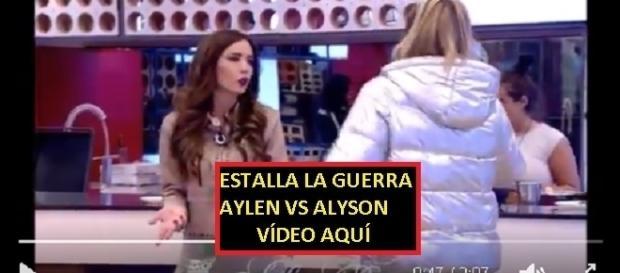 Tras los posicionamientos Aylen y Aly se enzarzaron en una gran discusión, vídeo aquí