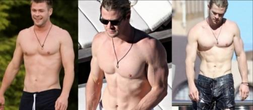 Chris Hemsworth showing off his superhero body / Via extreme fitness lifestyle Facebook