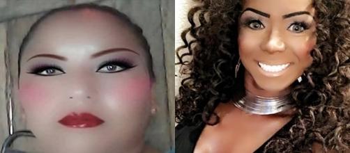 Exemplos de pessoas que erraram na hora de editar a selfie