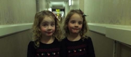 La foto è stata scattata da Martin Hughes, padre delle due gemelle