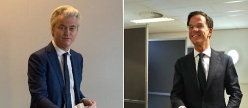 Wilders y Rutte respectivamente