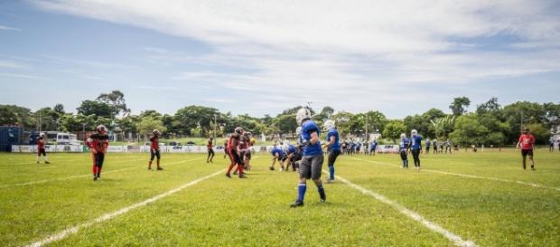 Com situações de jogo, as equipes se enfrentaram em SP (Foto: Débora Mello)