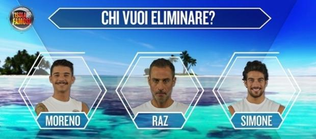Moreno, Raz Degan e Simone Susinna in nomination