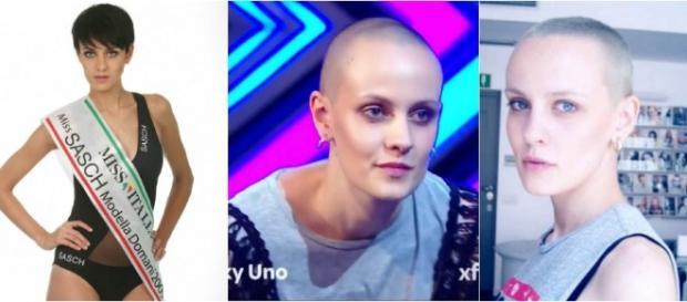 Valeria uomini e donne senza capelli
