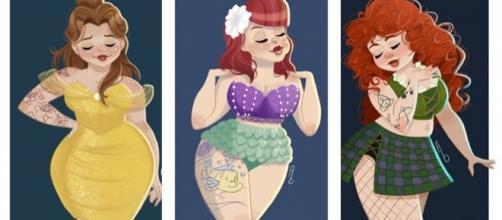 Artista recria princesas Disney em estilo pin-up (Reprodução/Twitter)