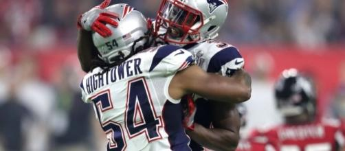 Dont'a Hightower celebrates his forced fumble in Superbowl 51 (Via zesty_patriots on Twitter)