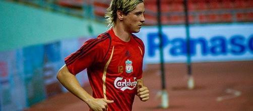 Fernando Torres ai tempi del Liverpool.