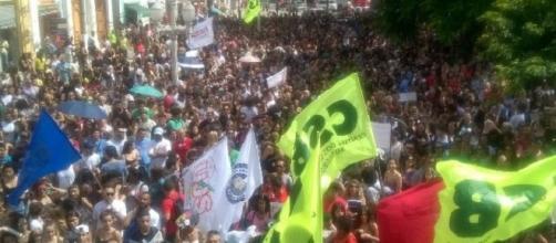 Manifestação realizada em Juiz de Fora