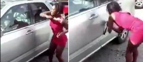 Mulher detona carro do marido.