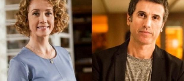 Vitória e Leonardo na novela 'A Lei do Amor' (Divulgação/Globo)