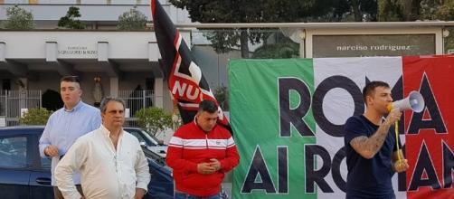 incontro alla Magliana di Forza Nuova e Roma ai Romani