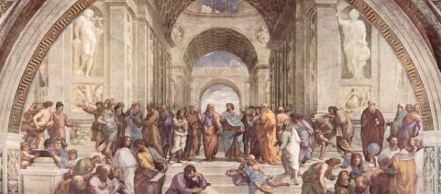"""""""Escuela de Atenas"""", por Rafael Sanzio"""