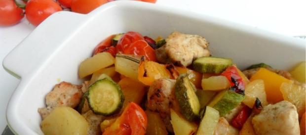 Pollo con contorno di verdura - pinterest.com