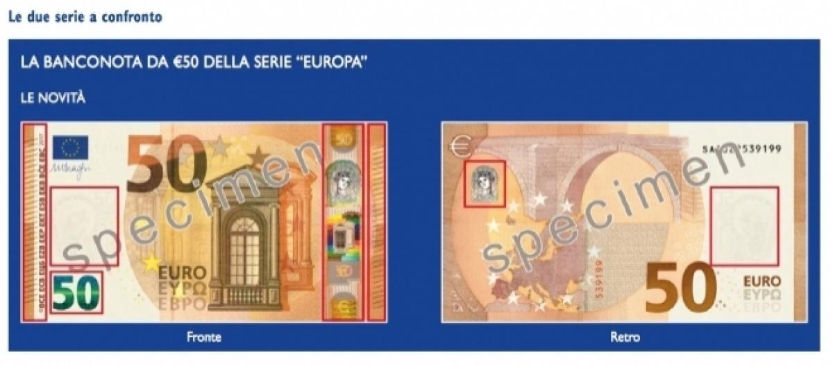 b9cb2addcf Ecco la nuova banconota da 50 euro in circolazione dal 4 aprile: come cambia