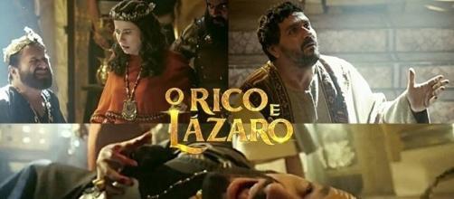 Morte do rei Eliaquim na novela 'O Rico e Lázaro'