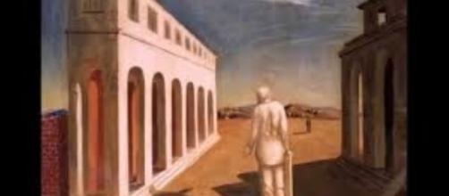 """""""Piazza d'Italia con uomo politico"""" by Giorgio de Chirico FAIR USE youtube.com Creative Commons"""