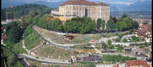 Veduta del castello di Rivoli, prima delle grandi trasformazioni subite dalla città
