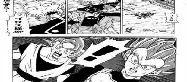 Goku y Vegeta se sorprenden por la fusión