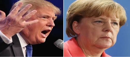 Donald Trump et Angela Merkel le 12 octobre