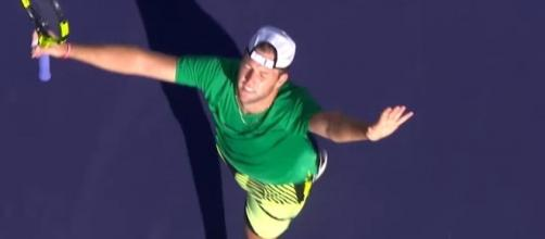 Jack Sock after the match via Youtube, Tennis TV channel https://www.youtube.com/watch?v=66QTrJU0A8A