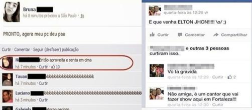 Postagens inusitadas no Facebook